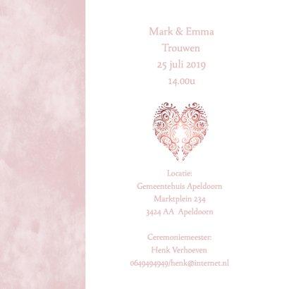 Huwelijk roze hart 2