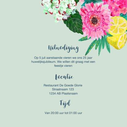 Huwelijks jubileum 25 jaar Bloemen 3