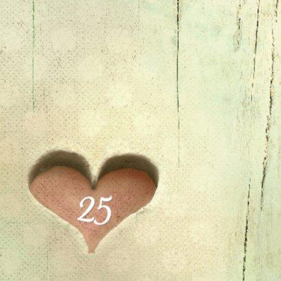Huwelijksjubileum hart 25 jaar - SG 2