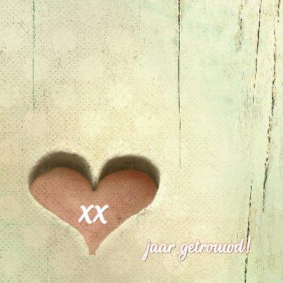Huwelijksjubileum hart xx jaar 2