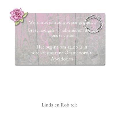 huwelijksjubileum hout roos 3