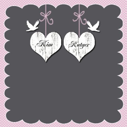 huwelijksjubileum takje met harten 2
