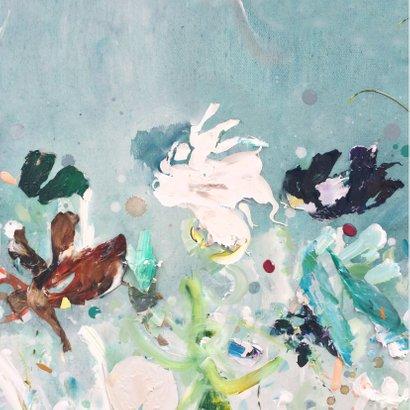 Jarig schilderij print Hoera 2