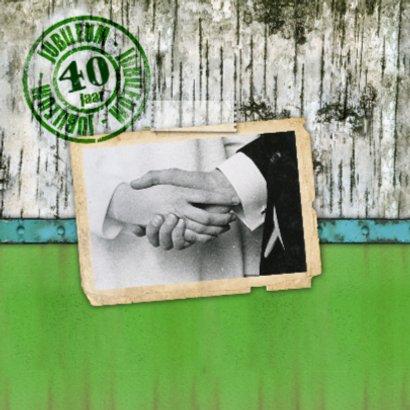 jubileum kaart feest hout groen stempel 2