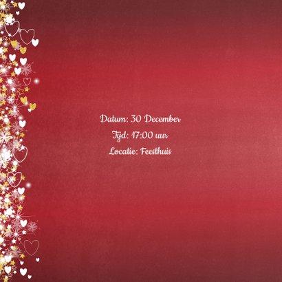 Jubileum trouwdag stijlvolle rode uitnodiging 2