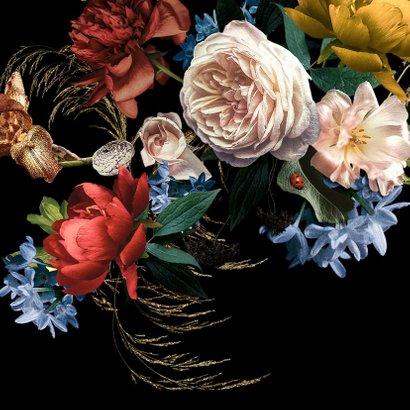 Jubileum uitnodiging  bloemen oude meesters 2
