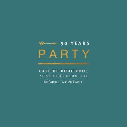 Jubileum uitnodiging stijlvol met gouden typografie 2