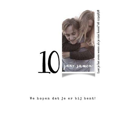 Jubileumkaart 10 jaar samen, modern met hart 2