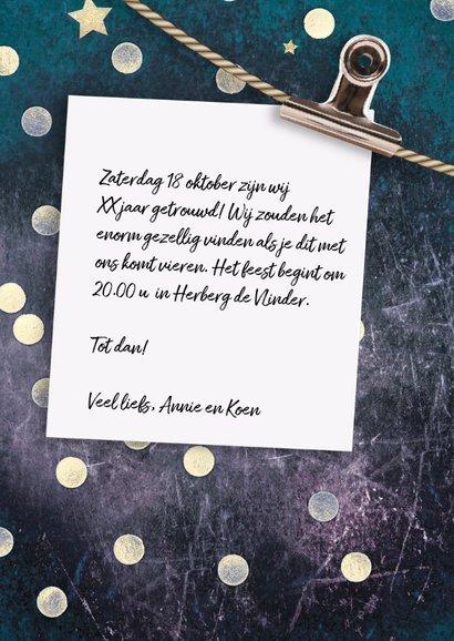 Jubileumkaart 25 jaar getrouwd confetti 3