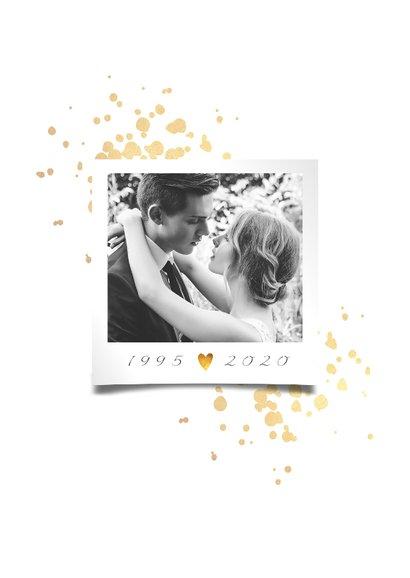 Jubileumkaart 25 jaar huwelijk goudlook klassiek 2