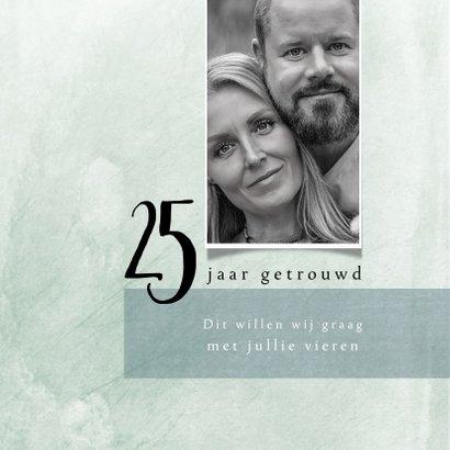 Jubileumkaart 25 jarig huwelijk, modern en stijlvol 2