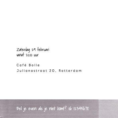 Jubileumkaart 5 jaar getrouwd met foto en leuke typografie 3