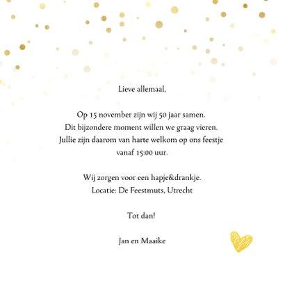 Jubileumkaart - 50 jaar getrouwd fotocollage 3