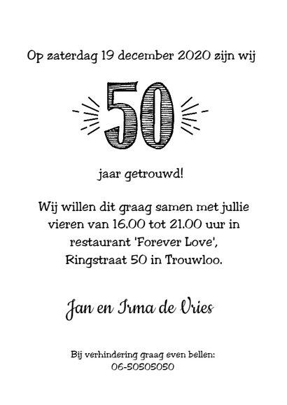 Jubileumkaart getrouwd in 1968 al 50 jaar een geweldig paar 3