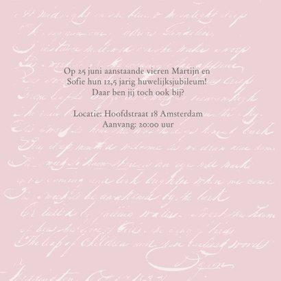 Jubileumkaart huwelijk romantisch rozen 2