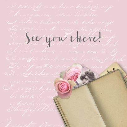 Jubileumkaart huwelijk romantisch rozen 3