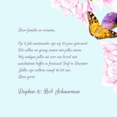 Jubileumkaart Magnolia vlinder 3