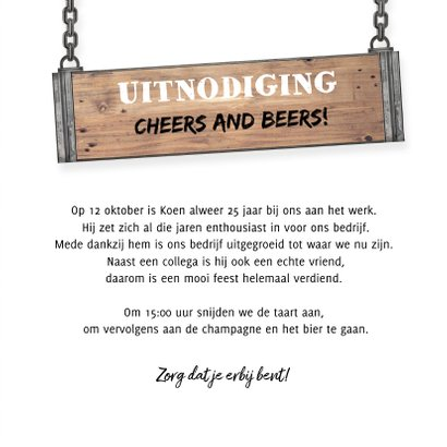 Jubileumkaart medewerker industrieel met foto en hout  3