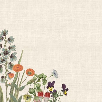 Jubileumkaart met bloemenkrans 2