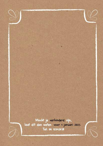 Jubileumkaart tinnen huwelijk zwart wit kraft typo - DH 2