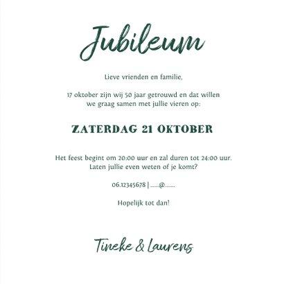 Jubileumkaart vintage met kant, label en eigen foto 3