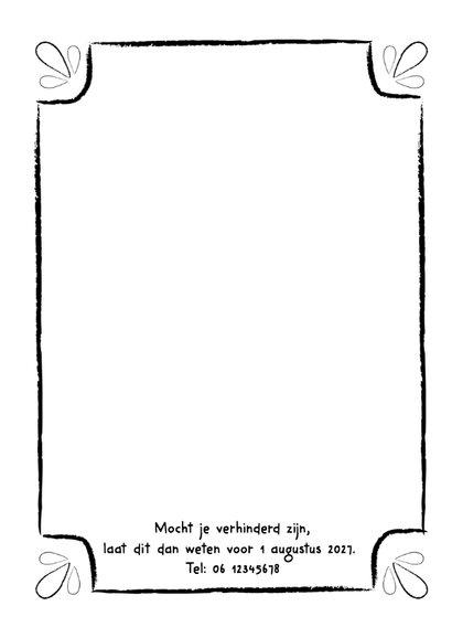 Jubileumkaart zilveren huwelijk zwart wit typografisch - DH 2