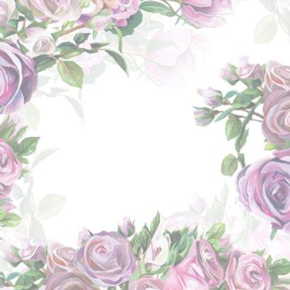 Kaart Met Bloemen en Spreuk 2
