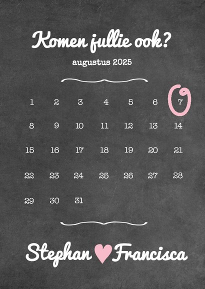 Kalender krijt jubileum - BK 3
