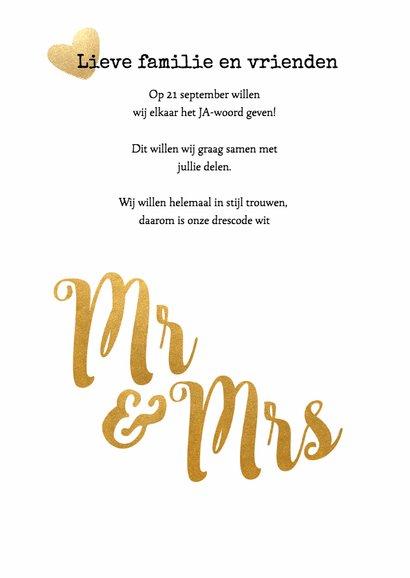 Kalender Mr & Mrs goud - BK 2