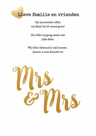 Kalender Mrs & Mrs goud - BK 2