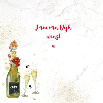 Kerst champagne glazen 2