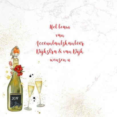 Kerst champagne roodborstje 2