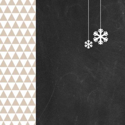 Kerst driehoekjes krijtbord 2