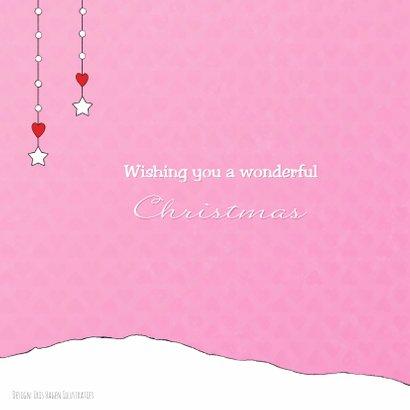 Kerst eerste kerst baby roze IH 2