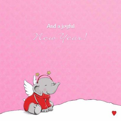 Kerst eerste kerst baby roze IH 3