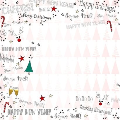 Kerst feestelijke illustratieve kaart handlettering  2