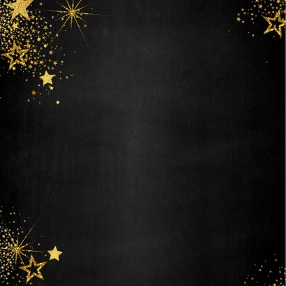Kerst feestelijke met vele gouden sterretjes  en 4 foto's 2