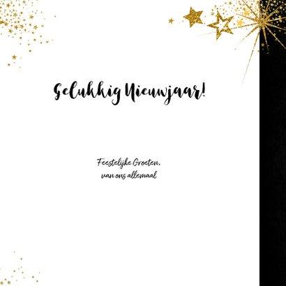 Kerst feestelijke met vele gouden sterretjes  en 4 foto's 3