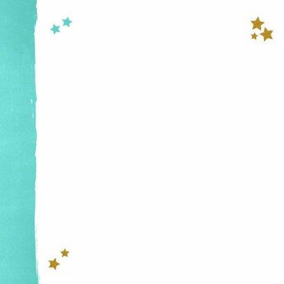 Kerst lief fotokaart blauw goud 2