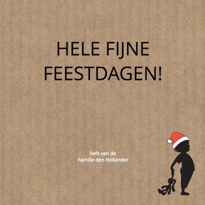 Kerst silhouet jongen knuffel Kraft - MW 3