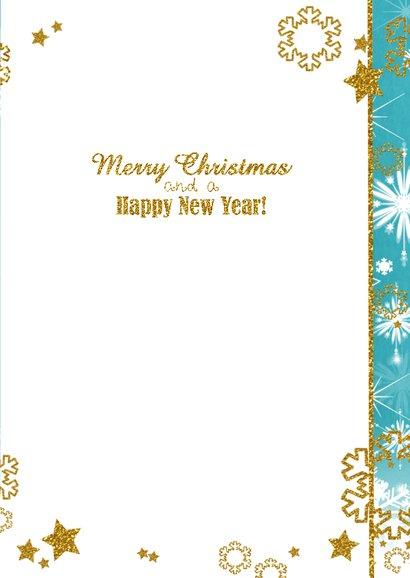 Kerst sprankelend foto blauw S 3