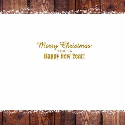 Kerst stijlvolle fotokaart goud 3