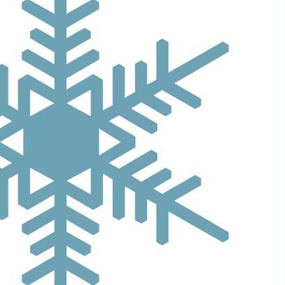 Kerstkaart blauw strak ijskristal 2