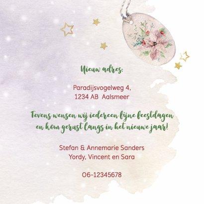 Kerst-verhuiskaart met kerstrozen 3
