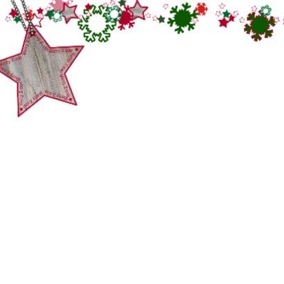 KERST vrolijk ster sneeuwvlok Rood 4knt 2