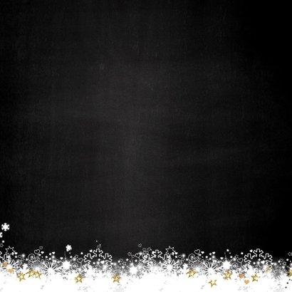 Kerst winterse sfeervolle  foto kerstkaart sneeuw en sterren 2