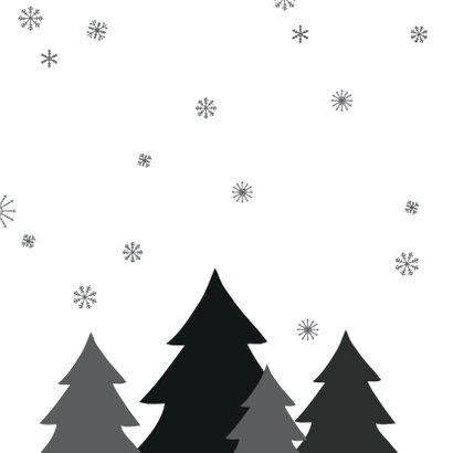 Kerstboom zwart/wit sneeuw 2