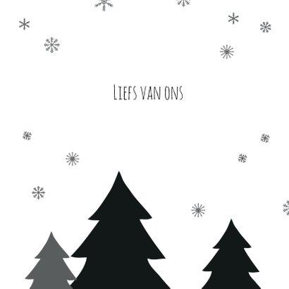 Kerstboom zwart/wit sneeuw 3