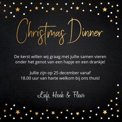 Kerstdiner uitnodiging foto confetti 3