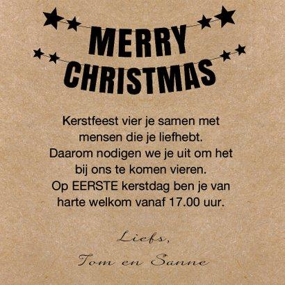 Kerstdiner uitnodiging foto kraft 3
